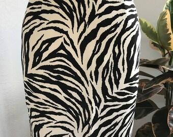 Jahrgang Zebra-Print Rock
