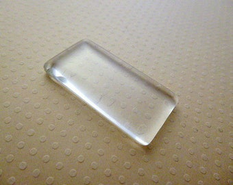 48x24mm - rectangle Cabochon glass 48 x 24 mm - CABRV4824 0980