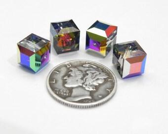 Swarovski 5601 Vitrail Medium 8mm Crystal Cube Beads