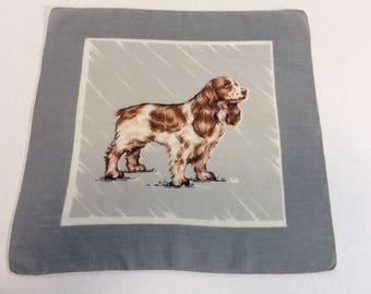 Vintage Spaniel Handkerchief