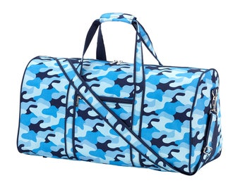 Cool Camo Duffel Bag-Monogrammed Duffel-Personalized Luggage-Carry on-Travel Bag