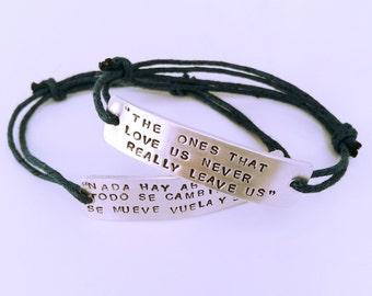 Bracelet with thick aluminium plate