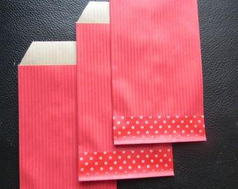 Red KRAFT collection: 20 pockets 7 x 12 cm red kraft masking tape