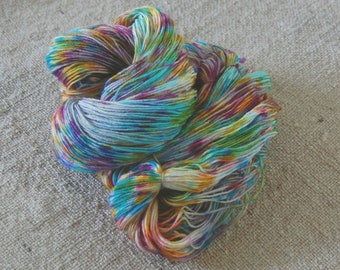 "Dyed to Order- Wonder Sock yarn - ""Holi Festival"" - superwash Blueface wool and nylon 465 yards 3.5 ounces- Shipped on May 30, 2015"