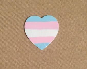 Transgender Pin, Trans Pin, Trans Flag, Trans Pin, Pride Pin, Trans Heart
