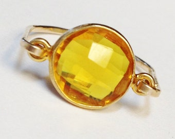 Citrine Ring  Citrine Gemstone  Gold Citrine Ring  14K Gold Filled Ring  Citrine Jewelry