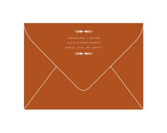 Return Address Stamp - Rubber Stamp with Wooden Handle - Arrow