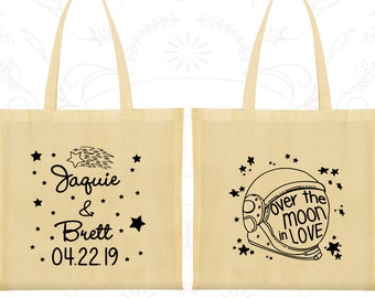 Tote Bag Canvas, Tote Bags, Wedding Tote Bags, Personalized Tote Bags, Custom Tote Bags, Wedding Bags, Wedding Favor Bags (263)