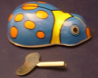 Vintage Lady Bug Wind Up Toy, 1980s