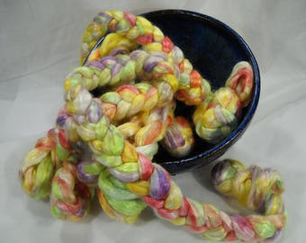 A Delicate Flower, Mulberry Silk Roving Top 1.0oz