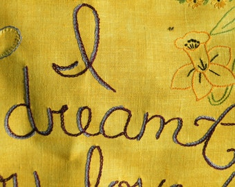Destiny of Dreams, Tapestry, Boho style, Fiber art, Embroidered art, Girlfriend gift, Bohemian, Handmade