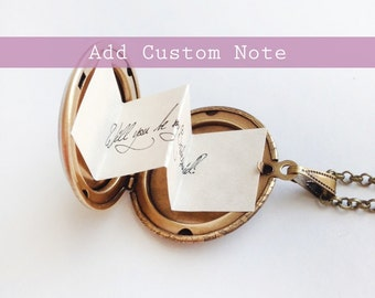Add a Custom Note to your Locket Order - Personalized Message - Secret Note