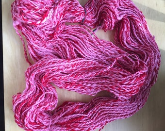 Hand Spun Wool- Lovely Pink