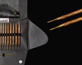 FREE Tracked SHIPPING: Addi-Click Olive Wood Interchangeable Knitting Needle System, 25% off US List