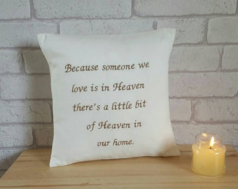 In Loving Memory Cushion~Memorial Pillow~Remembrance Gift for the Home~Memorial Quote Cushion~Sympathy Gift