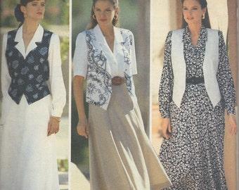 Butterick 4611 Skirt, Shirt and Vest