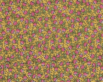 Fabri-Quilt Turnip Radish Vegetable Gardening 100% Cotton Fabric Yardage OOP out of print