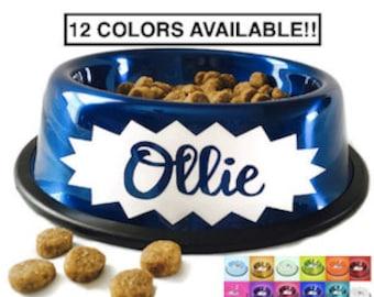 Dog Bowl Personalized - Personalized Dog Dish - Personalized Dog Bowl - Dog Bowls - Pink Dog Bowl - Gold Dog Bowl - Blue Dog Bowl