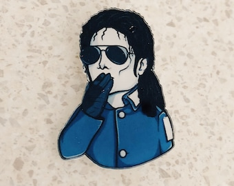 Michael Jackson Acrylic Brooch / Michael Jackson 90s Pin / Pop Star MJ Brooch / Cool Retro Michael Jackson Pin