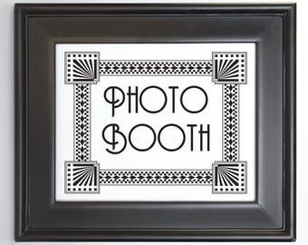 Printable Art Deco Wedding Sign Customize text, font, color, size DIY bridal, special event, bar mitvah DIY