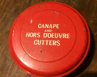 canape and hors d'oeuvre cutters tin