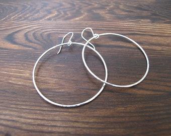 Silver boho hoops