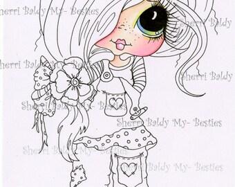 DESCARGA instantánea Digital Digi sellos ojo grande Big Head Dolls Digi mis Besties coloreado en parte IMG43722 por Sherri Baldy
