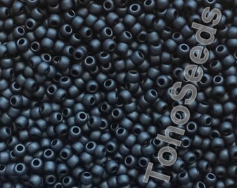 10g Toho Seeds Beads 11/0 Matte Opaque Frosted Black Jet TR-11-49F size 11 mini rocailles 2mm seed beads