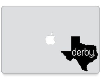 Roller Derby Decal || Roller Derby Laptop Decal || Derby State Pride || Roller Girl Laptop Decal || Roller Derby Laptop Sticker