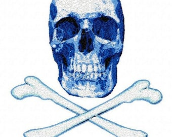 Skull and Bones Letzrock Machine Embroidery Designs...2289