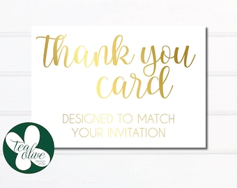 Thank You Card / Custom Thank You Cards / Baby Shower Invitation / Bridal Shower Invitations / Birthday Party / Printable Card / Digital