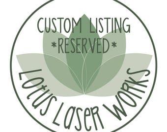 Custom Listing For Sarena