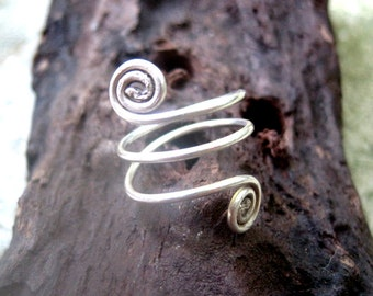 "Handmade Silver Toe Ring ""Infinity"" - Silver Spiral Toe Ring - Infinity Toe Ring"