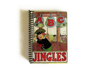 Jingles ABC Notebook A6 Spiral Bound - Back to School, Writing Journal, Blank Sketchbook, Gifts Under 20, Small Pocket Journal, 4x6 Inches