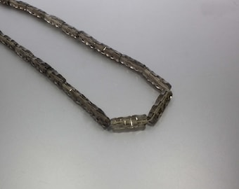 Smoky Quartz Faceted Fancy Tubes 5.5x21 to 8.5x26 mm AA Necklace for Women