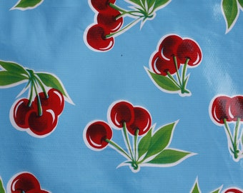 CHERRIES in the Sky TABLECLOTH 46 x 84