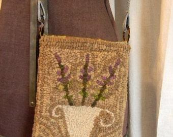 Lavender Urn hooked rug pattern - PDF - from Notforgotten Farm™