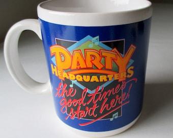 Hallmark Party Headquarters Mug, Hallmark Mug, Hallmark Good Time Mugs, Vtg Hallmark Japan Mugs