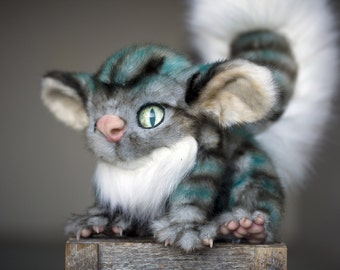 Inspired by Cheshire Cat from Alice in Wonderland - OOAK doll