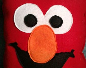 Elmo inspired  from Sesame Street decorative pillow