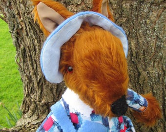 Miss Prim Fox Dressed Ornamental Toys Copper Plush Decorative Traditional Toys Collectible Dressed Ornamental Toys Gift Decorative Toy Items