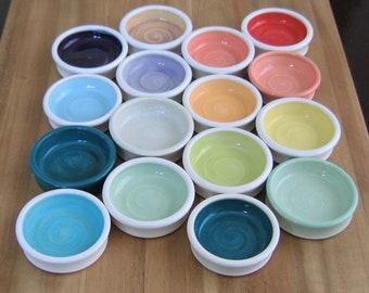 Ring Holder, Your Choice of ONE Trinket Dish, Tiny Ceramic Dish, Wedding Ring Holder, Pottery Bowl, Engagement Gift, Handmade Stoneware