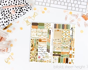 Give Thanks TN STANDARD Weekly Kit // 120+ Matte Planner Stickers // Perfect for your Standard Size Traveler's Notebook // TNS0860