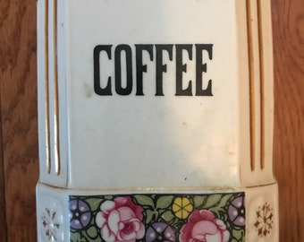 Vintage Coffee Jar made in Czechoslovakia