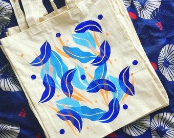 Einkaufstasche Wasser Blätter