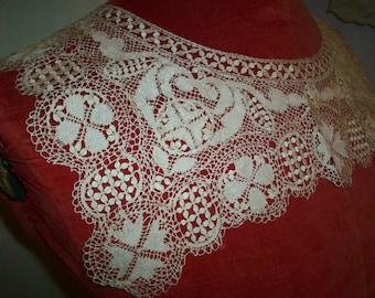 Antique lace collar Maltese 1800s antique lace