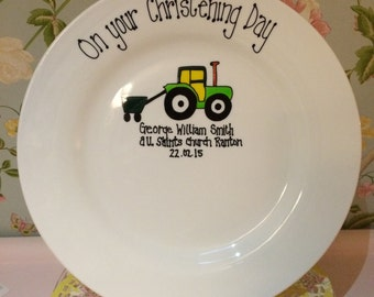 Christening Signature Plate
