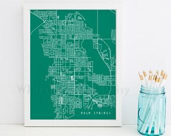 Palm Springs Map Palm Springs Art Palm Springs Map Art Palm Springs Print Palm Springs Printable California Art