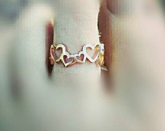 Little hearts toe ring