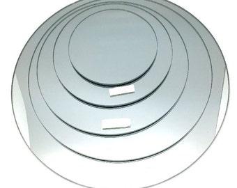 Round Mirror Base for Centerpiece, 1-Piece